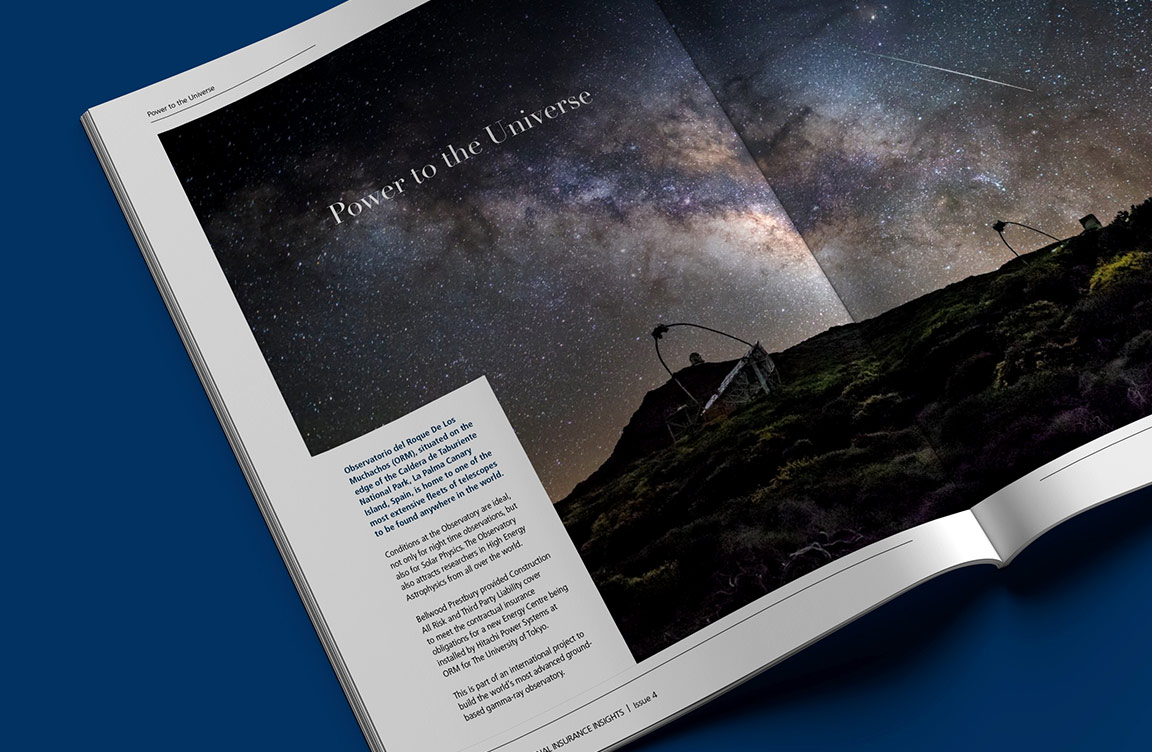 An internal shot from a magazine, showing night sky imagery.
